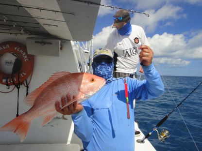 American Red Snapper on home made vertical jig