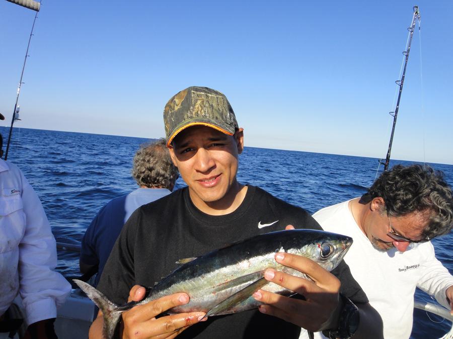Vertical jigging shorebound adventures for Reward fishing fleet