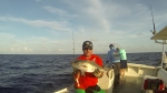 Jeff with a small Amber Jack on Vertical Jig