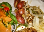 KISS Fish with potatos and salad