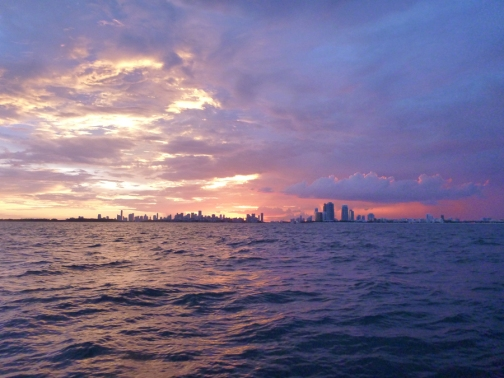 Sunset over Miami-Picture by Herbert Hans Muller
