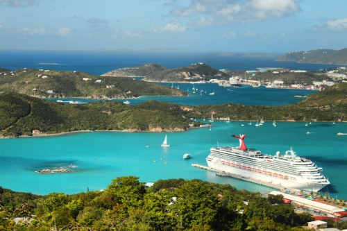 Carnival Freedom in St Thomas Feb 2014