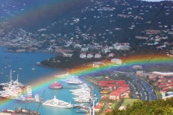 Rainbow over St Thomas
