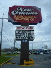 New Orleans Hamburger & Seafood Co sign