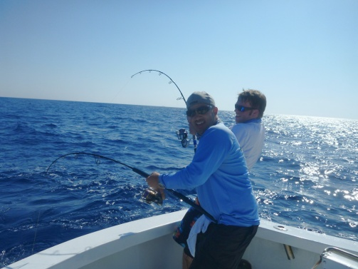Ed and Adam on a double Amberjack Hook up