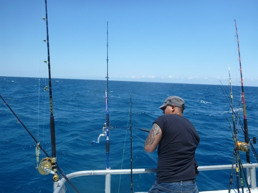 Seth Fighting Jack Crevalle