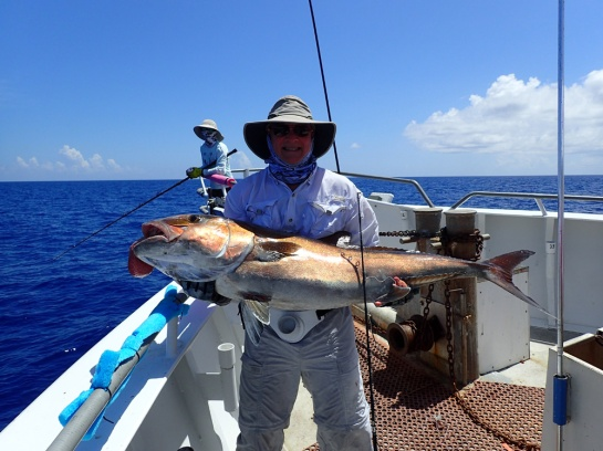 Bill and his 70 to 80 pounder amberjack