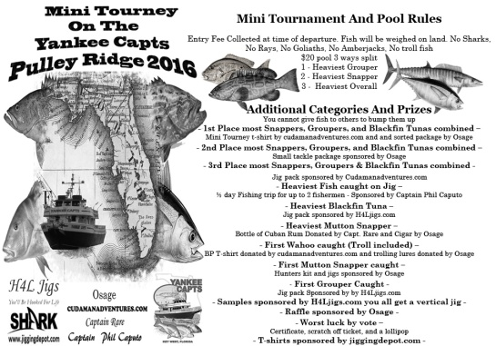 Pulley Ridge Trip 2016 Mini Tourney rules