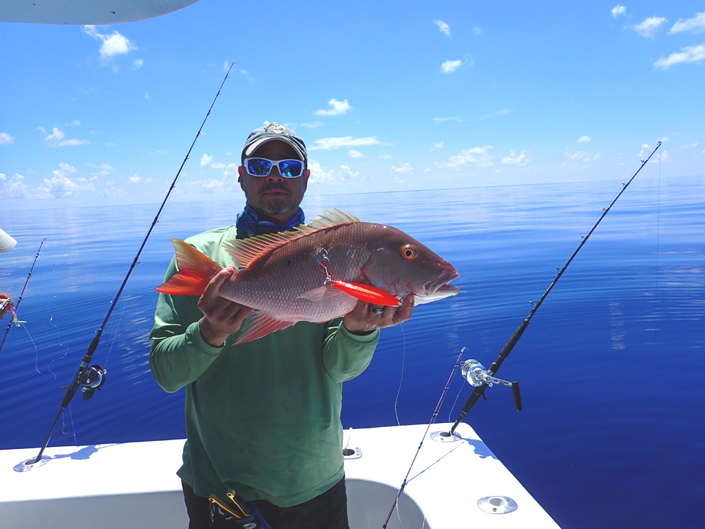 mutton snapper on slow pitch jig